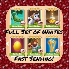 Coin Master Full Beanstalks Set (All 6 Whites) Mythical Tune Etc..(FastDelivery)