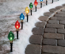 Winter Wonder Lane Multi-Color Light Bulb Pathway Markers 10-Count Pack