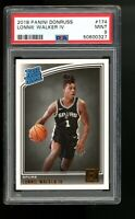 2018 Panini Donruss #174 Lonnie Walker IV Spurs Rated Rookie Card RC PSA 9