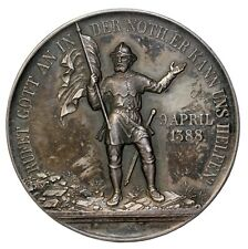1888 Switzerland 500th Anniversary Of Battle Of Naefels Bronze Medal By Durussel