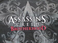 Ubisoft Assassin's Creed Brotherhood Black Gray Long Sleeves Shirt S Small M