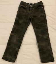 Old Navy Karate Camo Print Distressed Slim Pants 4 Pocket Adj. Waist (Boys Sz 7)
