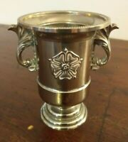 Vintage Silver Plated Small Urn with Tudor Rose Motif - Design No: 945535