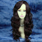 Long Stunning Wavy Ladies Wig Dark Brown & Auburn Mix From WIWIGS UK