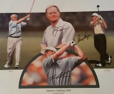 """Dayton's Challenge 1998"" by Karl Jaeger 29/45 RARE Autographed Golf Lithograph"