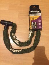 RRP £ 40 Master Lock Integrated Key Lock Steel Chain High Security x4 Keys