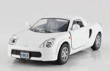 Kinsmart 1:32 Scale Toyota MR2 Diecast Model Car Pullback Door Open White 1/32