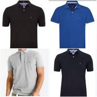 Tommy Hilfiger Short Sleeve Men's Polo T Shirt 100% Cotton Regular Fit New