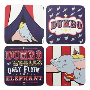 Genuine Disney Classic Dumbo Circus Set of 4 Coasters Drinks Mat Elephant