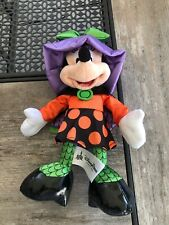 Minnie Mouse Halloween Plush Doll Stuffed Animal Disney Parks Exclusive Witch