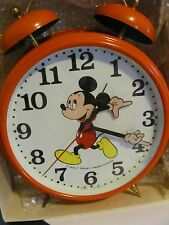 VINTAGE alarm clock mickey mouse by blessing 11 inch   windup 2 bell RARE!!