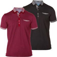 D555 Mens Branded King Size Woven Collar S/Sleeve Polo 1XL 2XL 3XL 4XL, BNWT