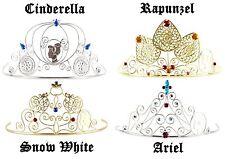 Child Disney Princess Cinderella Snow White Rapunzel Ariel Metal Costume Tiaras