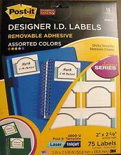 3900-U Post-it 3M Removable Adhesive ID Labels Inkjet & Laser UPC 051141340708