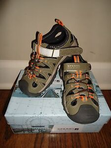 Youth shoes, Sperry Sandals, size 11, brown/orange