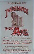 """""""EXPOSITION NAISSANCE D'UN ART 1977"""" Affiche originale entoilée MOUNET  44x68cm"""