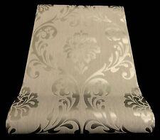 "13110-50) Vliestapete ""Ornament"" Barock Design Tapete  silber-hellgrau"