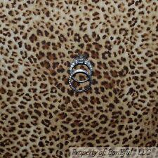 BonEful Fabric FQ Cotton Quilt Tan Brown Dot African Animal Leopard Cheetah Skin