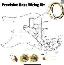 Precision P Bass Fender Wiring Kit CTS 250K Cloth Wire .022uF Switchcraft Jack