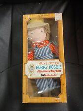 """Vintage Knickerbocker Holly's Brother Robby Hobbie 15"""" Rag Doll Nib"""