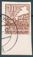 SBZ-Mecklenburg-Vorpommern, Mi.-Nr.35xao, mit PLF IIo, geprüft BPP,pracht