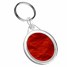 1 x Crumpled Red Paper Gift Wrap - Keyring IR02 Dad Kids Birthday Gift #14629