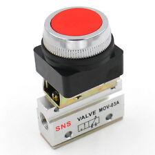 MOV-03A momentanen Rote drucktaster 2 Position 3 Luft mechanische Wegeventil