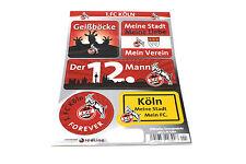 1 FC Köln Aufkleber Set - offizielles Lizenzpr. - (1068)