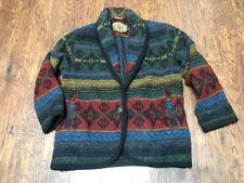 Vintage Womens Woolrich Blanket Jacket Coat Southwestern Wool Blend (Sz Small)