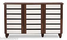 Wood Shoe Cabinet Storage Rack Organizer Entryway Shelves Closet Home Furniture