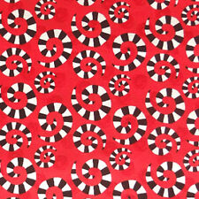 In The Beginning HOOPLA AND EVERYDAY FUN - Red - Swirly Spiral Polka Dot Fabric