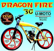 "66cc 80cc 2-Stroke Motorized Bike Kit With 26"" Cruiser Bike High Power"