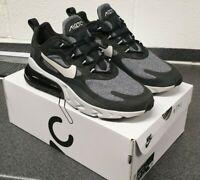 Nike Air Max 270 React Black White Mens Running Sports Trainers UK 9 / EUR 44