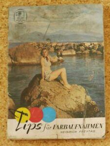 Tips für Farbaufnahmen v Heinrich Freytag  Zeiss Photo Studien Nr. 11 ca 1940