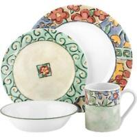 Corelle Impressions 16-Piece Dinnerware Set, Watercolors Flowers Dinning Kitchen