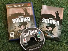 PS2 WWII SOLDIER PLAYSTATION 2 PAL VERSION GAME COMPLETE BLACK LABEL HISTORIC