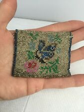 Very Tiny Vintage 1920s Micro Beaded Envelope Purse Bag Beadwork