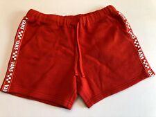 Vans New Brand Striper Elastic Waist Shorts Women's Small Red