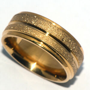 Vintage Dusty Mens Women Jewelry Gold Filled Band Ring Fashion Rings Jewellery 9