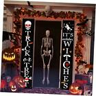 Decorations Outdoor Decor Porch Sign, Trick Or Treat & It's October Halloween