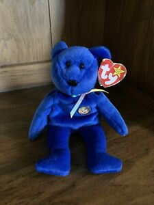 """** Collectors **  Ty Beanie Baby - Retired - """"Clubby"""" Official Club Bear"""
