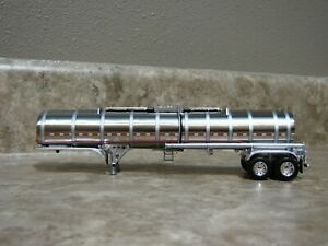 DCP 1/64 Brenner Silver Chemical Tanker Trailer Toy