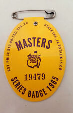 1965 USED MASTERS GOLF BADGE~COLLECTORS ITEM~VERY RARE TICKET~Jack Nicklaus