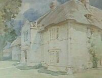 Watercolour Landscape Painting  Hammoon Manor Dorset  by W. H Allcott Signed