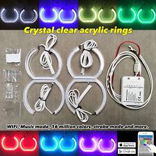 Wifi App RGB LED CRYSTAL M4 angel eye halo DRL For 12-16 F30 halogen headlight