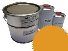 3 Litres Set 2K Revêtement de sol RAL 1004 jaune doré Glanz Peinture Atelier