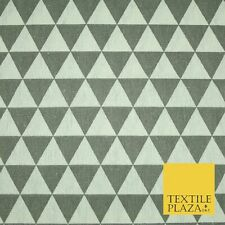 Black /& White /& Green Geometric Polyester Satin Soft Fabric Drapey Retro 60s