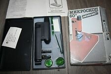 Microscope NATURALIST Vintage PLASTIC CHILDREN TOY  USSR Box and Accessories