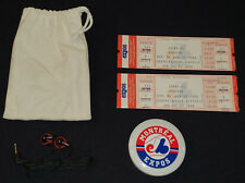 1980's - MONTREAL EXPOS - COMPLETE UNUSED TICKET (3) + PROMOTIONAL RADIO IN BAG