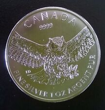 1 oz Silver Great Horned Owl - Canada 2015 - Birds of Prey Series (UNC)
